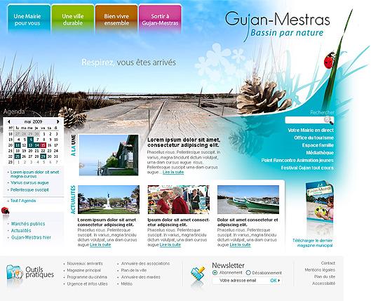 Design de page d'accueil